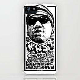 Mr.KRS1 / Rapper's Delight iPhone Case