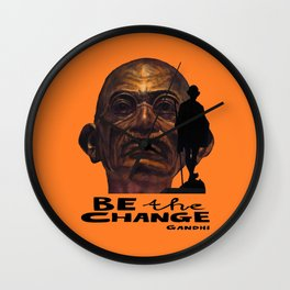 GANDHI quote Wall Clock