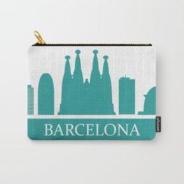 barcelona skyline Carry-All Pouch