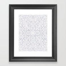 Makai Geo White Framed Art Print