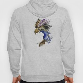Golden Eagle - Colorful Watercolor Painting Hoody
