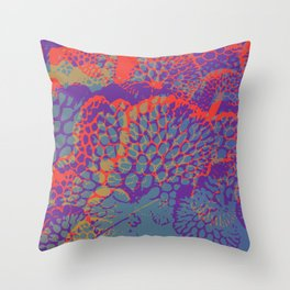 psychedelic beauty Throw Pillow