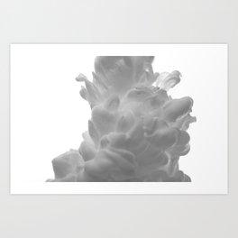 Plume on White Art Print