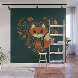 Foxy Heart Wall Mural