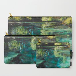 """""""Placidity in Greens"""" Juniper Springs, FL Carry-All Pouch"""