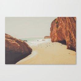 Beach Day - Ocean, Coast - Landscape Nature Photography Canvas Print