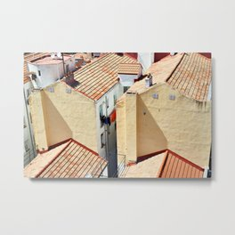 Old houses in poor quarter with tiled roofs Metal Print