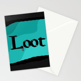 Loot: Color Sky-Blue Stationery Cards