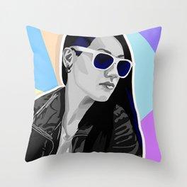 Rock Baby Throw Pillow