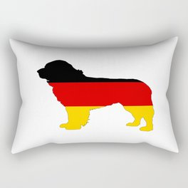 German Flag - Newfoundland Dog Rectangular Pillow