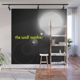 The wolf number Wall Mural