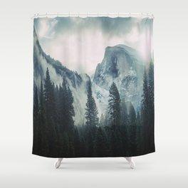 Cross Mountains II Shower Curtain