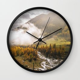 Sensational view.  Wall Clock