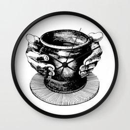 Potter's Ink Art Wall Clock