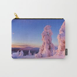 II - Sunset over frozen trees on a mountain, Levi, Finnish Lapland Carry-All Pouch