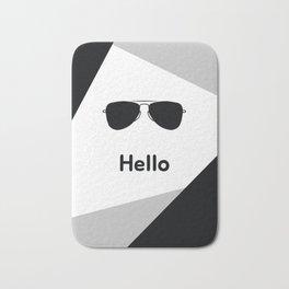 Hello,black sunglasses Bath Mat