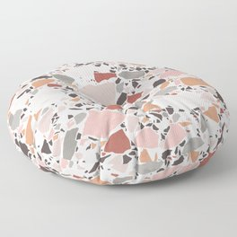 Neutral Terrazzo / Earth Tone Abstraction Floor Pillow