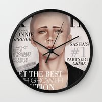 snk Wall Clocks featuring SnK Magazine: Connie by emametlo