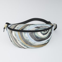 Wood Slice Abstract Fanny Pack