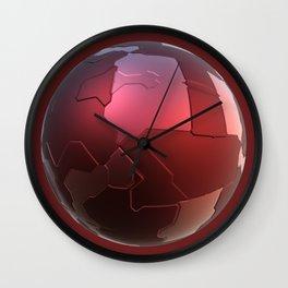Red tech ball Wall Clock