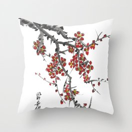 Cherry Blossom Two Throw Pillow