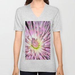 Large Chrysanthemum - Posterize Unisex V-Neck