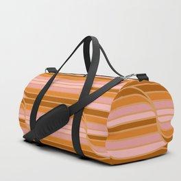 Geo Stripes - Butterscotch Duffle Bag