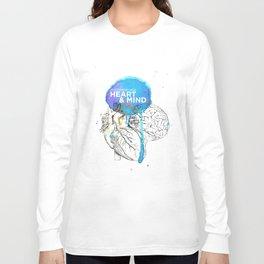 Art Coordinates Heart and Mind Long Sleeve T-shirt
