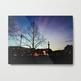 Sunset at City Center Metal Print