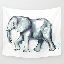 Elephant Watercolor Sketch 2 Wall Tapestry