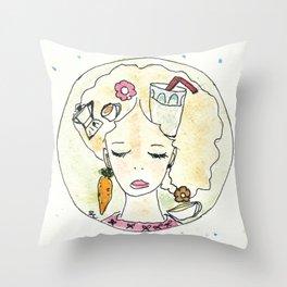 Il pensiero del buongiorno Throw Pillow