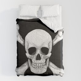Jolly Roger - Deaths Head Pirate Skull Charge Comforters