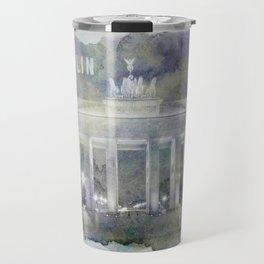 BERLIN Brandenburg Gate | watercolor Travel Mug