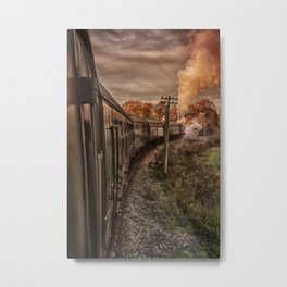 Evening Train Metal Print