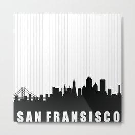 San Fransisco Skyline Metal Print