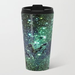 Green Eagle Nebula / Pillars of Creation Travel Mug