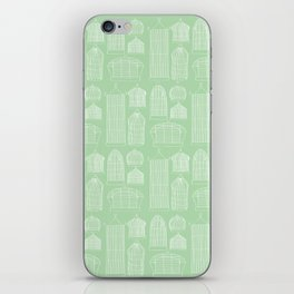 Birdcages (Green) iPhone Skin