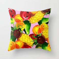 Fruitbowl loco Throw Pillow