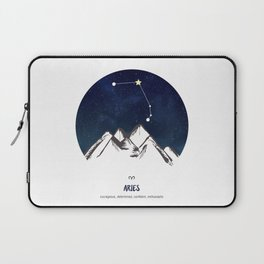 Astrology Aries Zodiac Horoscope Constellation Star Sign Watercolor Poster Wall Art Laptop Sleeve