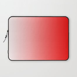 White and Red Gradient 022 Laptop Sleeve