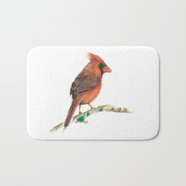 """Red Bird from """"Colorful Birds"""" series Bath Mat"""