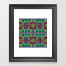 green slime pattern Framed Art Print