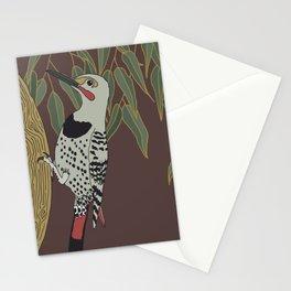 Flicker Bird and Botanical Illustration Art Series Stationery Cards