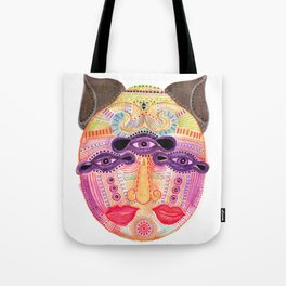 watch my lips mask Tote Bag