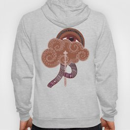 surreal creatue with cloud mask Hoody