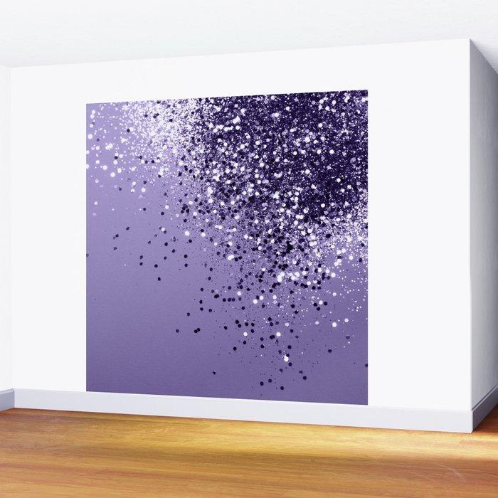ULTRA VIOLET Glitter Dream #1 #shiny #decor #art #society6 Wall Mural