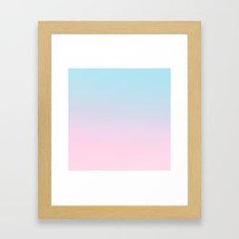 VAPORWAVE - Minimal Plain Soft Mood Color Blend Prints Framed Art Print
