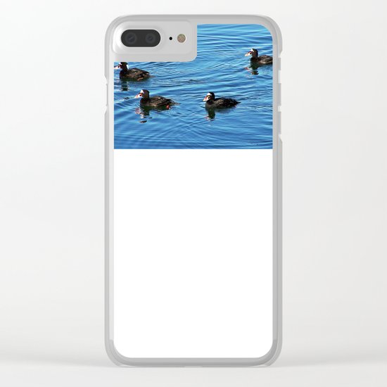 Surf Scoters Clear iPhone Case