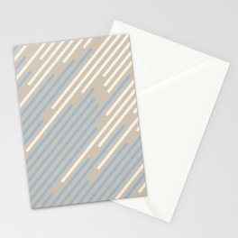 Pastel Blue Off White Beige Off-set Stripe Pattern 2021 Color of the Year Earth's Harmony & Accents Stationery Cards