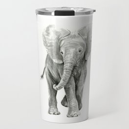 Baby Elephant Watercolor Travel Mug